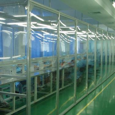 万级/10000级流水线防静电帘洁净棚